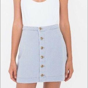 American Apparel Jean mini button up skirt
